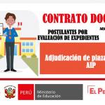 Adjudicación de plazas AIP nivel Primario, evaluación de expedientes